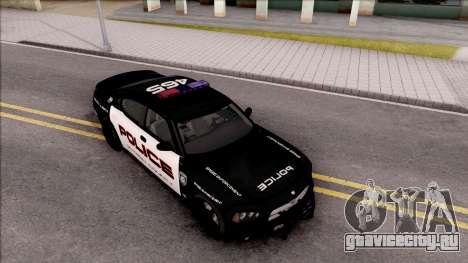 Dodge Charger High Speed Police для GTA San Andreas вид справа