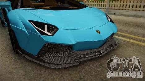 Lamborghini Aventador LP700-4 LB Walk v2 для GTA San Andreas вид сбоку