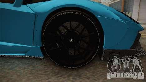 Lamborghini Aventador LP700-4 LB Walk v2 для GTA San Andreas вид сзади