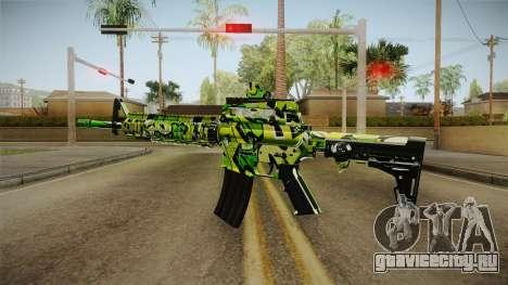 Green Camouflage M4 для GTA San Andreas второй скриншот