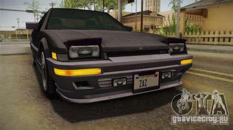 GTA 4 Dinka Hakumai Tuned Bumpers для GTA San Andreas вид сбоку
