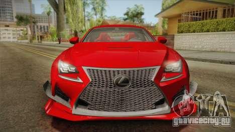 Lexus RC F RocketBunny для GTA San Andreas вид сзади слева