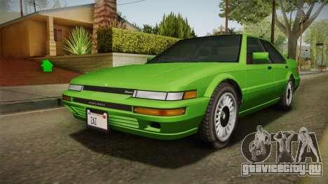 GTA 4 Dinka Hakumai для GTA San Andreas вид сзади слева