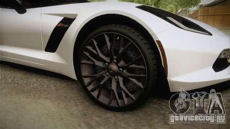 Chevrolet Corvette Stingray Z06 для GTA San Andreas вид сзади