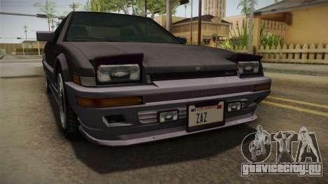 GTA 4 Dinka Hakumai Tuned Bumpers для GTA San Andreas вид изнутри