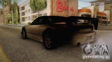 Nissan 240SX Lowpoly для GTA San Andreas вид слева