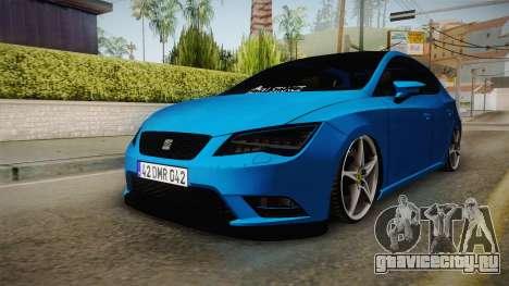 Seat Leon FR Blue для GTA San Andreas вид справа