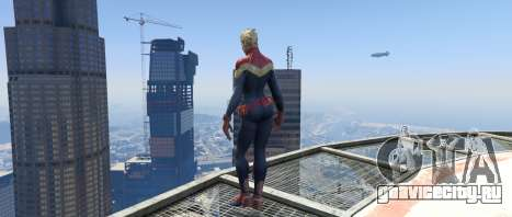 Captain Marvel (ANAD) для GTA 5 второй скриншот