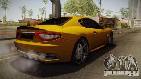 Maserati GranTurismo Sport v2 для GTA San Andreas вид сзади слева
