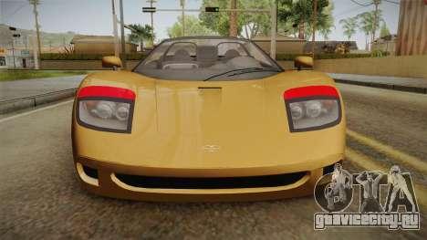 GTA 5 Progen GP1 Roadster IVF для GTA San Andreas вид изнутри
