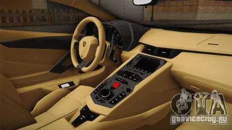 Lamborghini Aventador LP700-4 LB Walk v2 для GTA San Andreas вид изнутри