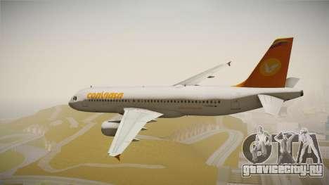 Airbus A320 Conviasa для GTA San Andreas вид слева