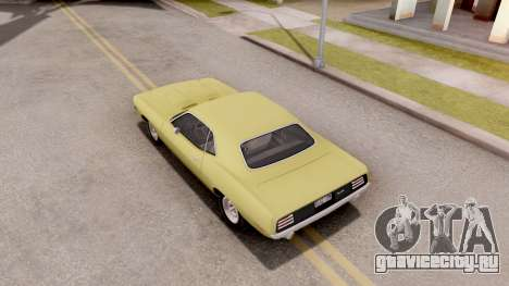 Plymouth Hemi Cuda 440 1970 для GTA San Andreas вид сзади