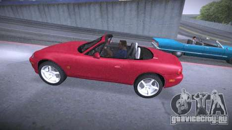 Mazda MX-5 Miata для GTA San Andreas вид изнутри