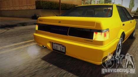 GTA 4 Dinka Hakumai SA Style для GTA San Andreas вид снизу