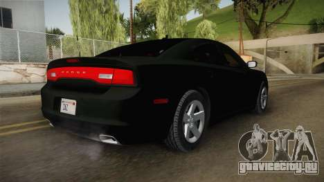 Dodge Charger 2013 Unmarked Iowa State Patrol для GTA San Andreas вид сзади слева