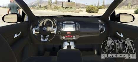 Kia Sportage 2017 2.5 для GTA 5 вид сзади слева