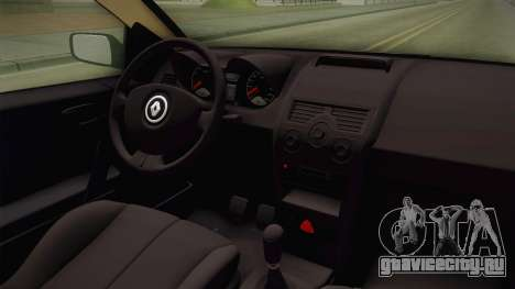 Renault Megane RS для GTA San Andreas вид изнутри