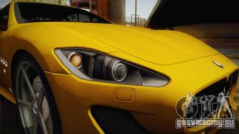 Maserati GranTurismo Sport v2 для GTA San Andreas вид изнутри