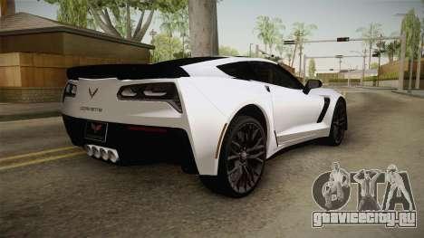 Chevrolet Corvette Stingray Z06 для GTA San Andreas вид справа