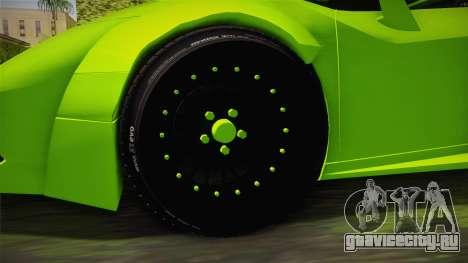 Lamborghini Huracan Rocket Bunny 2014 для GTA San Andreas вид сзади