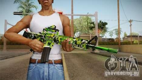 Green Camouflage M4 для GTA San Andreas третий скриншот