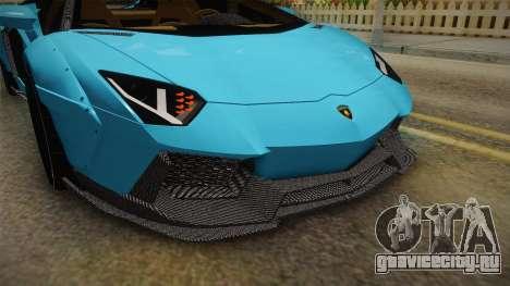 Lamborghini Aventador LP700-4 LB Walk v2 для GTA San Andreas вид сверху