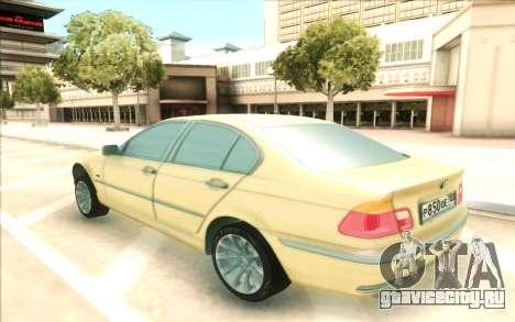 BMW 320 для GTA San Andreas вид сзади слева