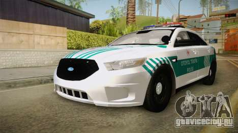 Ford Taurus Turkish Highway Patrol для GTA San Andreas вид сзади слева