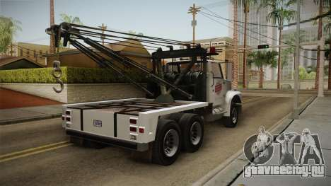 GTA 5 Vapid Towtruck Large Cleaner для GTA San Andreas вид справа