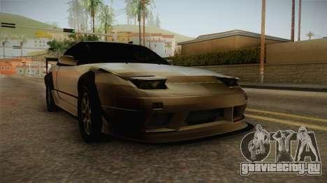 Nissan 240SX Lowpoly для GTA San Andreas вид справа