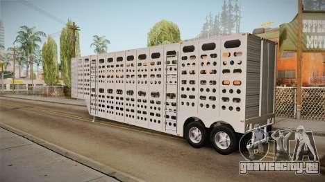 Double Trailer Livestock v3 для GTA San Andreas вид слева