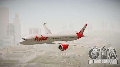 Airbus A350 Avior Airlines (Fictional) для GTA San Andreas вид сзади слева
