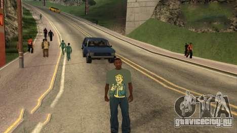 Футболка Fallout для GTA San Andreas третий скриншот