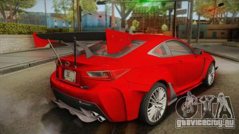 Lexus RC F RocketBunny для GTA San Andreas вид слева