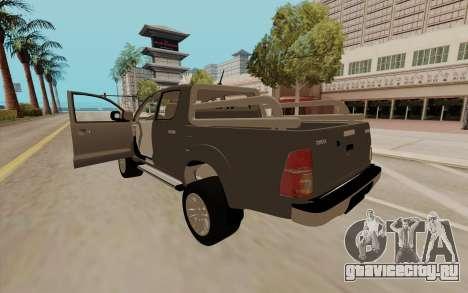 Toyota Hilux для GTA San Andreas вид слева
