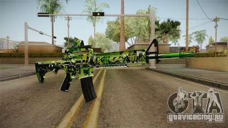 Green Camouflage M4 для GTA San Andreas