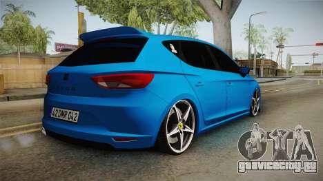 Seat Leon FR Blue для GTA San Andreas вид слева