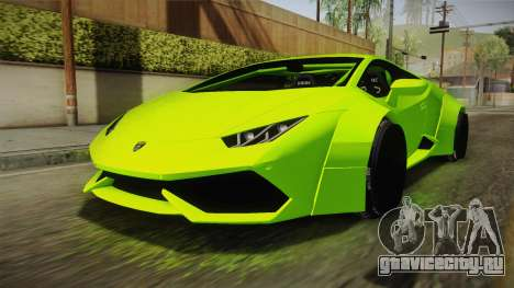 Lamborghini Huracan Rocket Bunny 2014 для GTA San Andreas вид справа