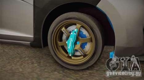 Honda Jazz GK FIT RS v1 для GTA San Andreas вид сзади