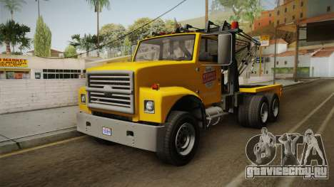 GTA 5 Vapid Towtruck Large Cleaner IVF для GTA San Andreas