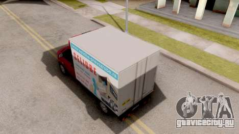 Volkswagen Transporter T5 Selidbe для GTA San Andreas вид сзади