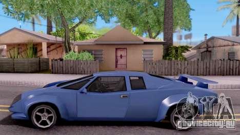 Infernus From Vice City для GTA San Andreas вид слева
