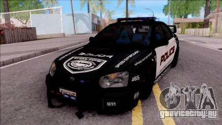 Subaru Impreza WRX STi High Speed Police для GTA San Andreas