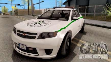 GTA V Cheval Fugitive Police Czech Old Style для GTA San Andreas