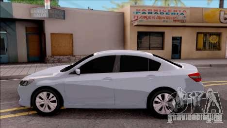 Honda Accord 2017 для GTA San Andreas вид слева