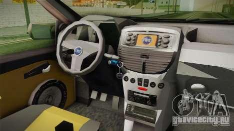 Fiat Punto 2002 для GTA San Andreas вид изнутри