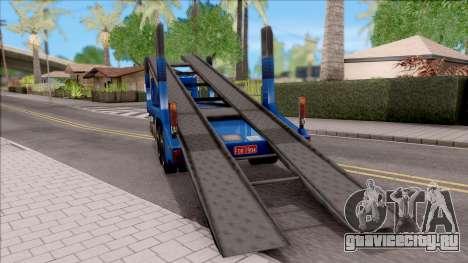 Scania 112H Cegonha для GTA San Andreas вид сзади слева