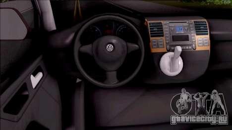 Volkswagen Transporter Spanish Police для GTA San Andreas вид изнутри