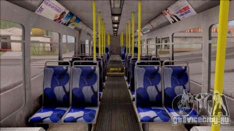 GTA V Brute Bus IVF для GTA San Andreas вид изнутри